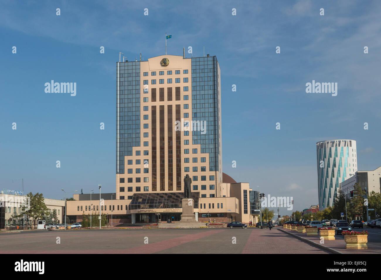 Agence, Astana, Ville, Gouvernement Kazakh, Kazakhstan, en Asie centrale, l'été, l'architecture, Photo Stock