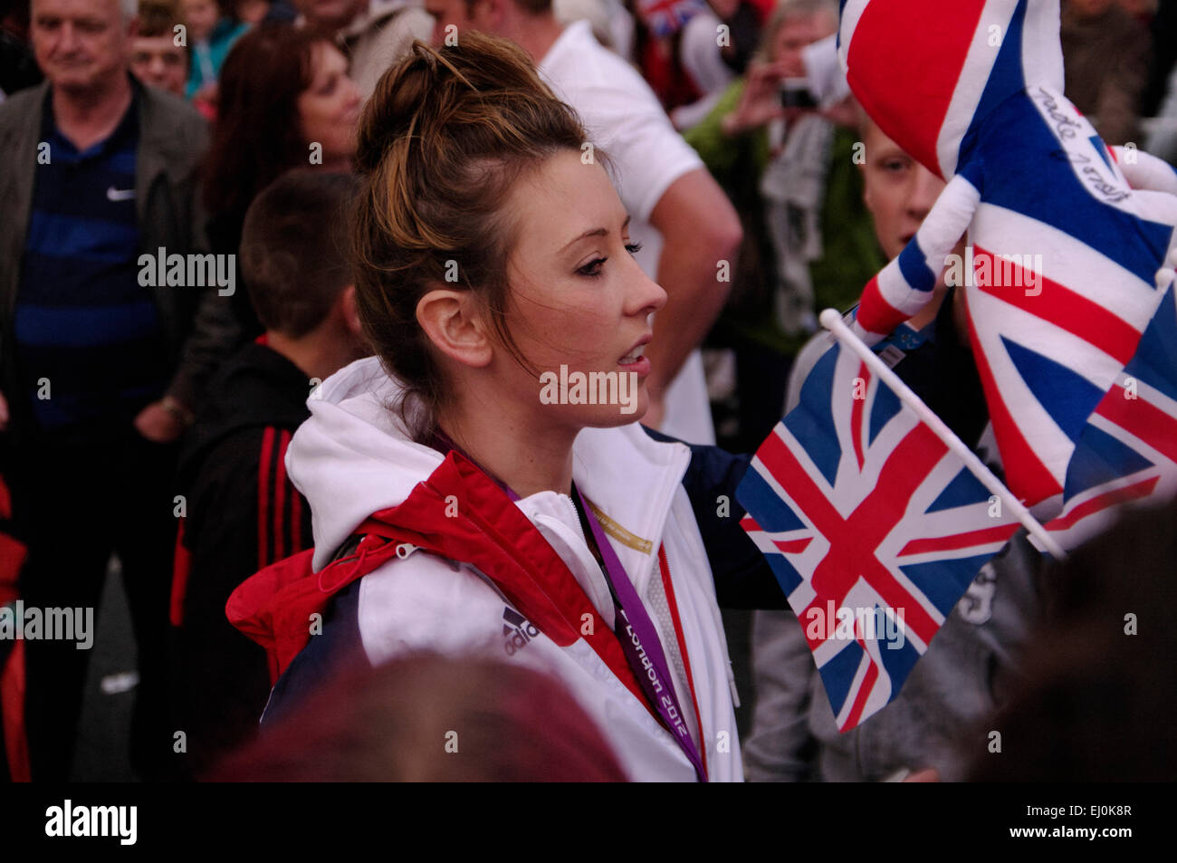 Jade Jones, athlète olympique, réception officielle, silex Photo Stock