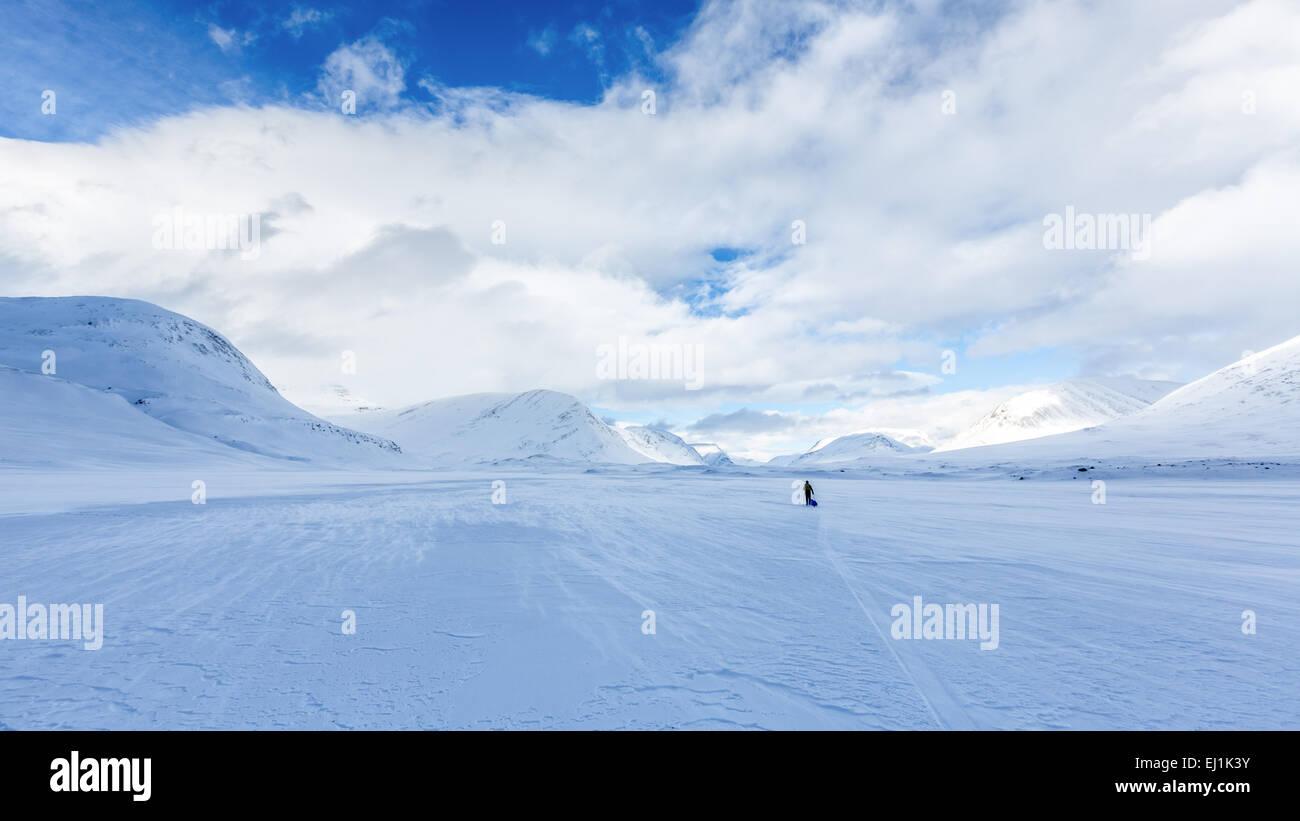 Zone de montagne Kebnekaise, Kiruna, Suède, Europe, UNION EUROPÉENNE Photo Stock