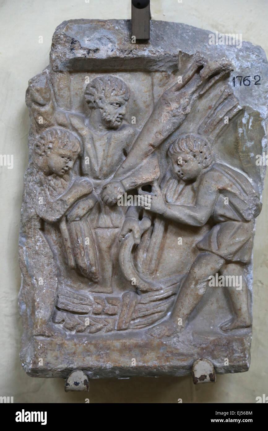 L'agriculture. Le soulagement. Vigneron. Musées du Vatican. 52043. Photo Stock
