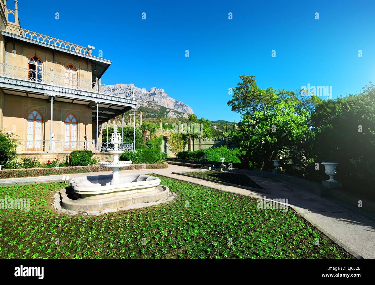 Le printemps à la résidence de Vorontsov dans les montagnes Photo Stock