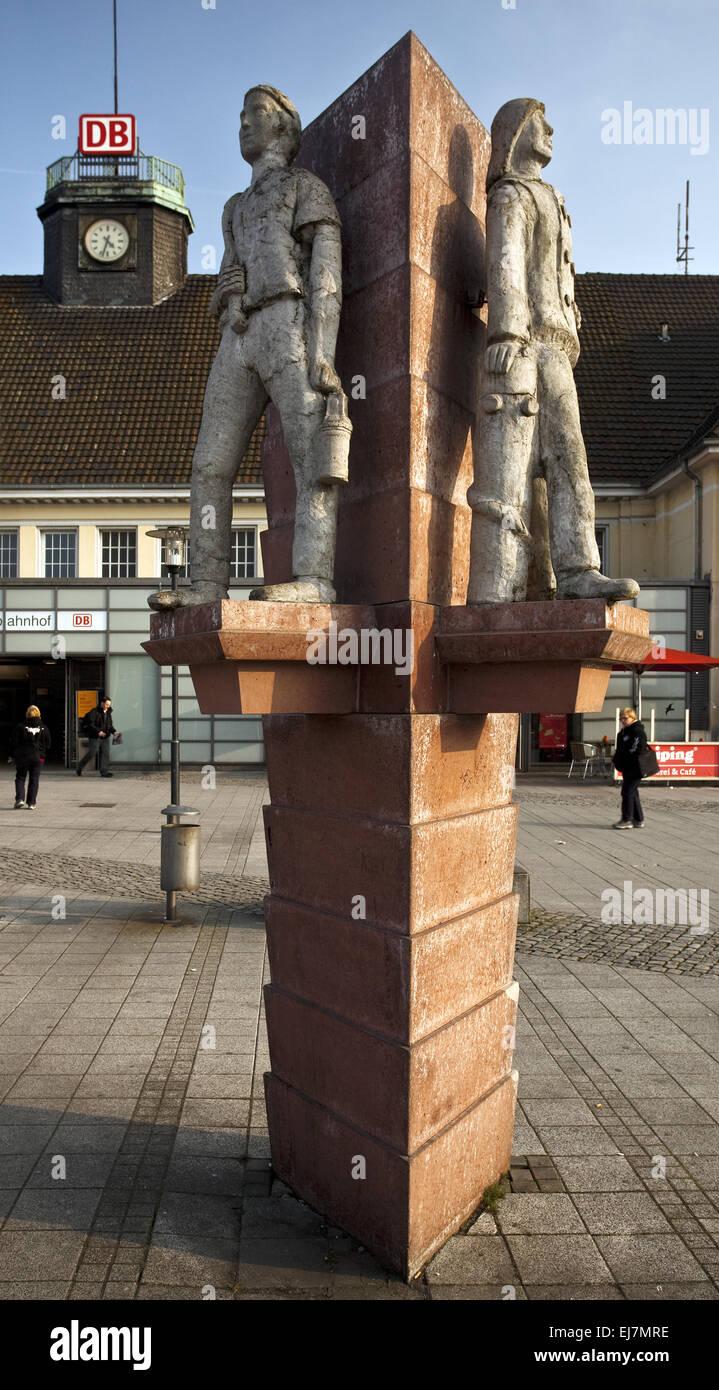 Trois hommes Corner, Herne, Allemagne Photo Stock
