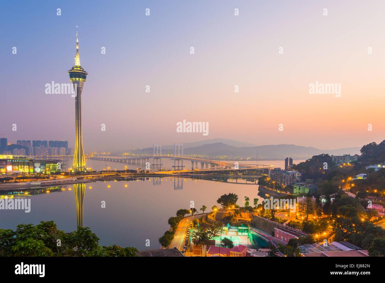 La Tour de Macau, Chine Photo Stock