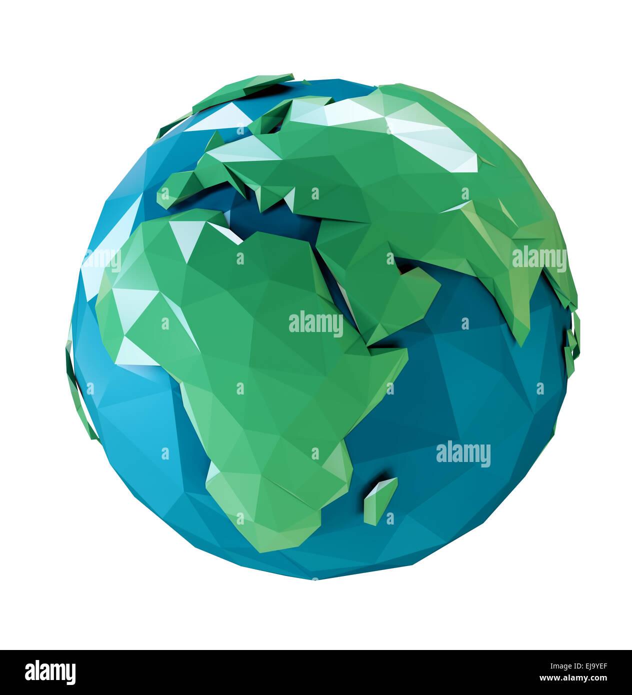 3d abstrait stylisé modèle de la Terre Photo Stock