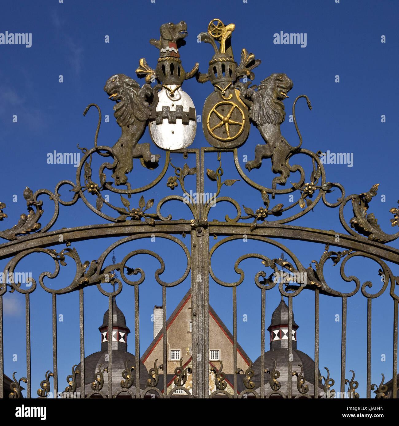 Porte d'entrée, château Neuenhof, Luedenscheid Photo Stock