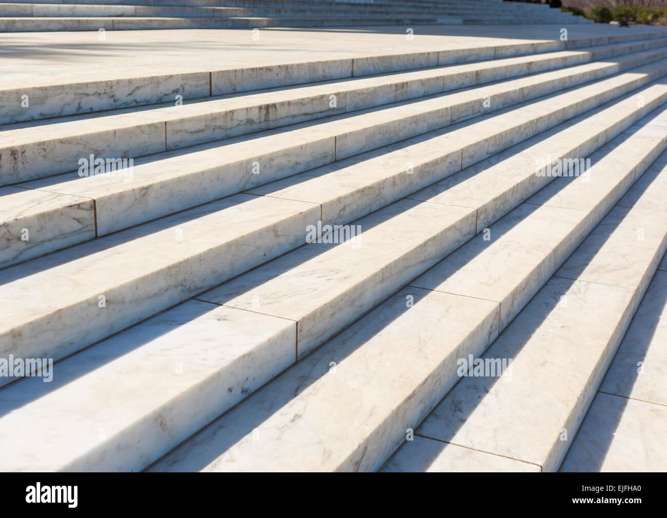 WASHINGTON, DC, USA - Jefferson Memorial, marches en marbre. Photo Stock