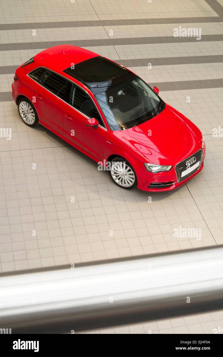 Audi A3 e-tron automobile hybride Photo Stock