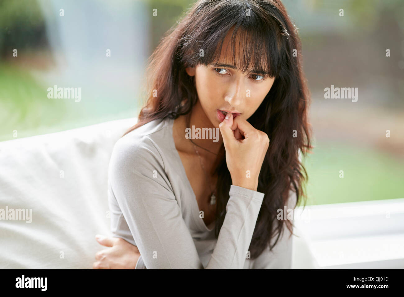 Adolescent anxieux Photo Stock