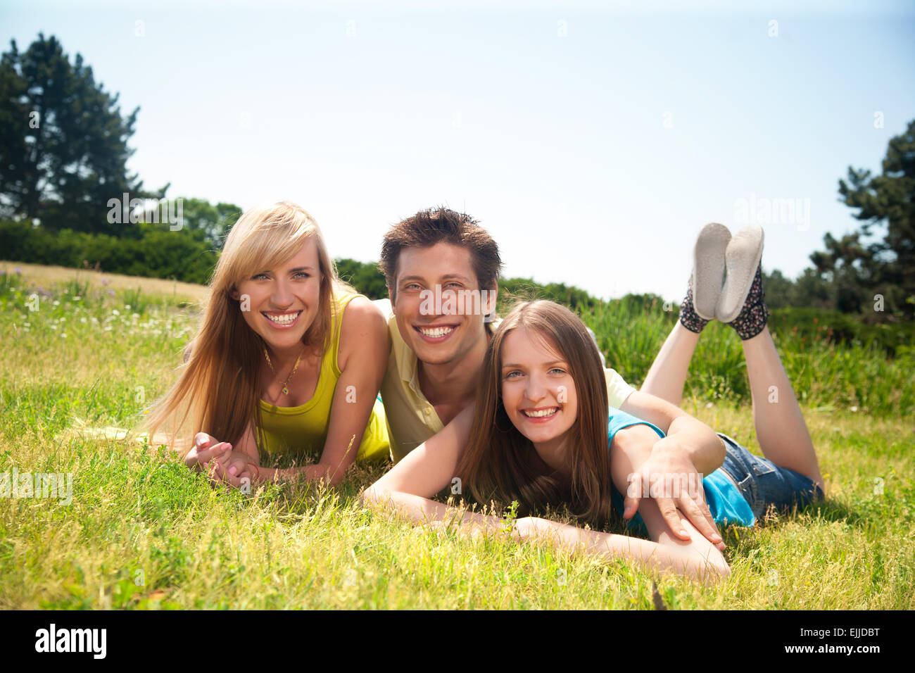 Les jeunes expriment positivity Photo Stock