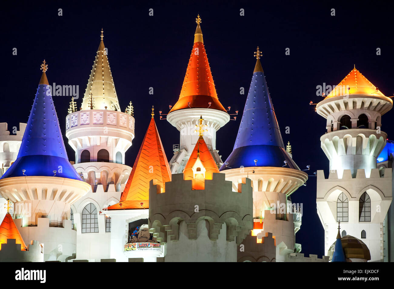Excalibur Hotel Tours, Las Vegas, Nevada, USA Photo Stock