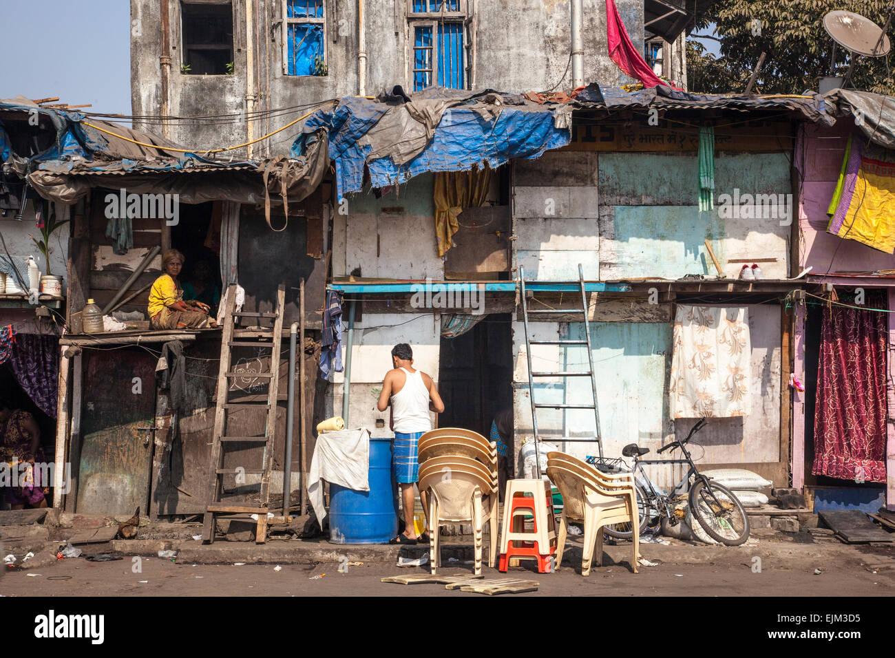 Shack à Mumbai, Inde Photo Stock
