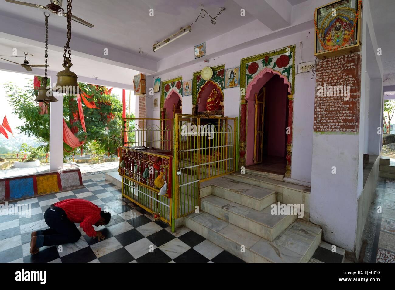 Temple de Hanuman à Jabalpur, Indien Photo Stock