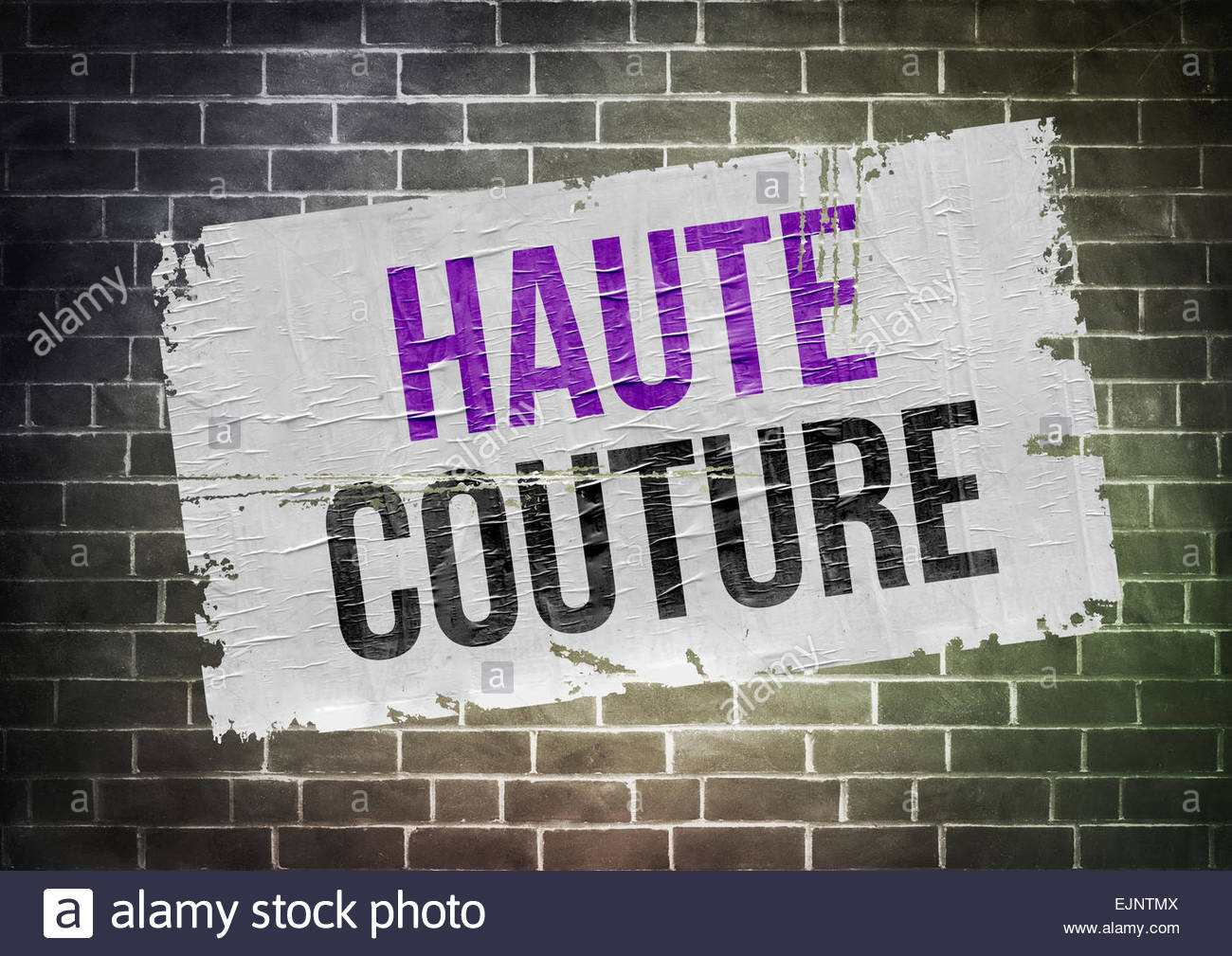 Haute Couture - concept de l'affiche Photo Stock