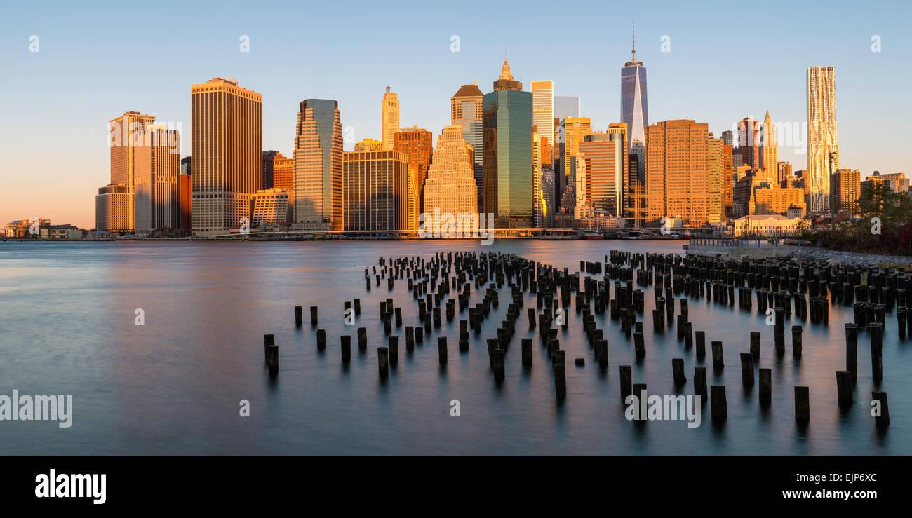 USA, New York, Manhattan, financial district, One World Trade Center (Freedom Tower) Photo Stock