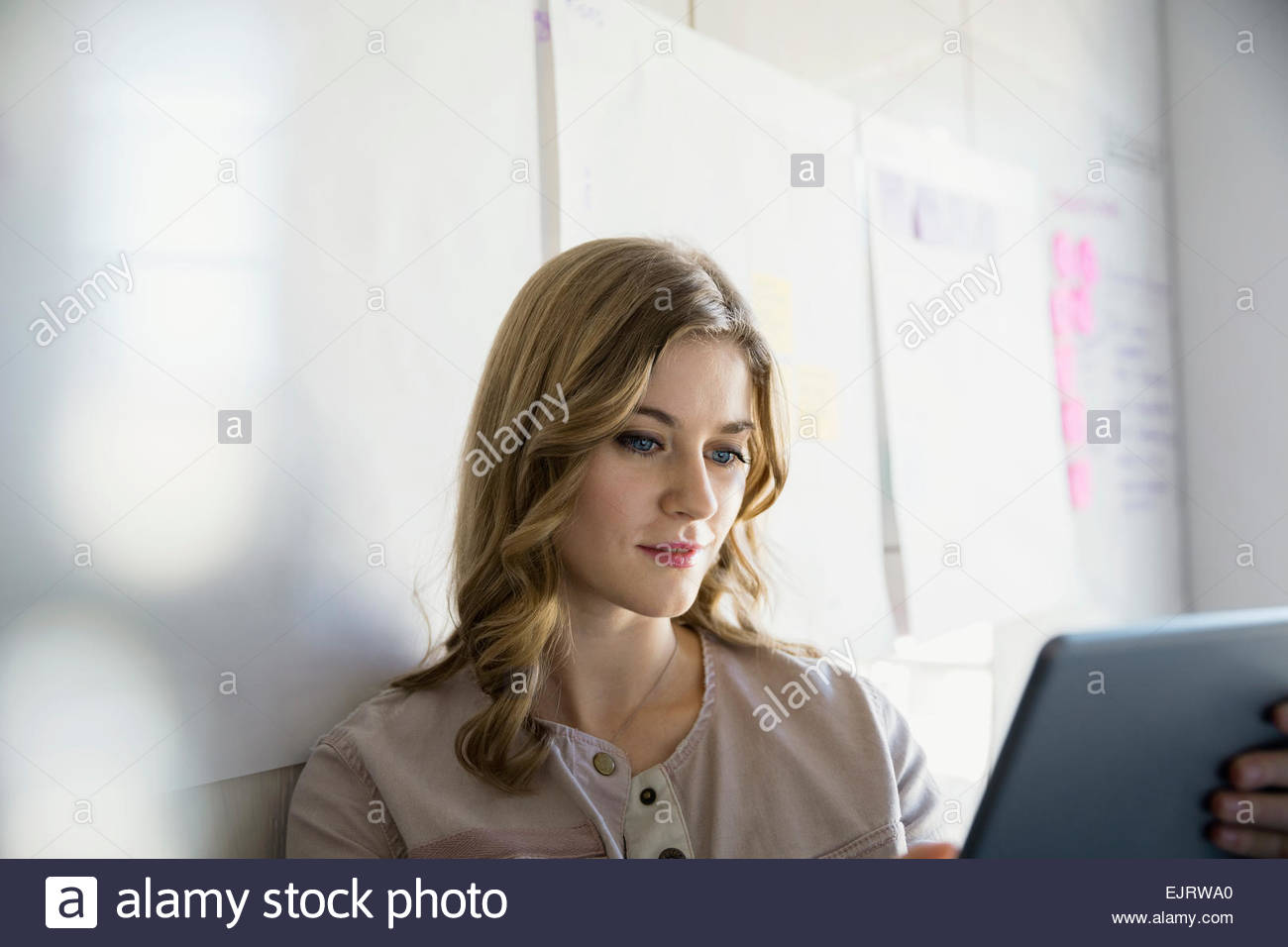 Businesswoman using digital tablet Photo Stock