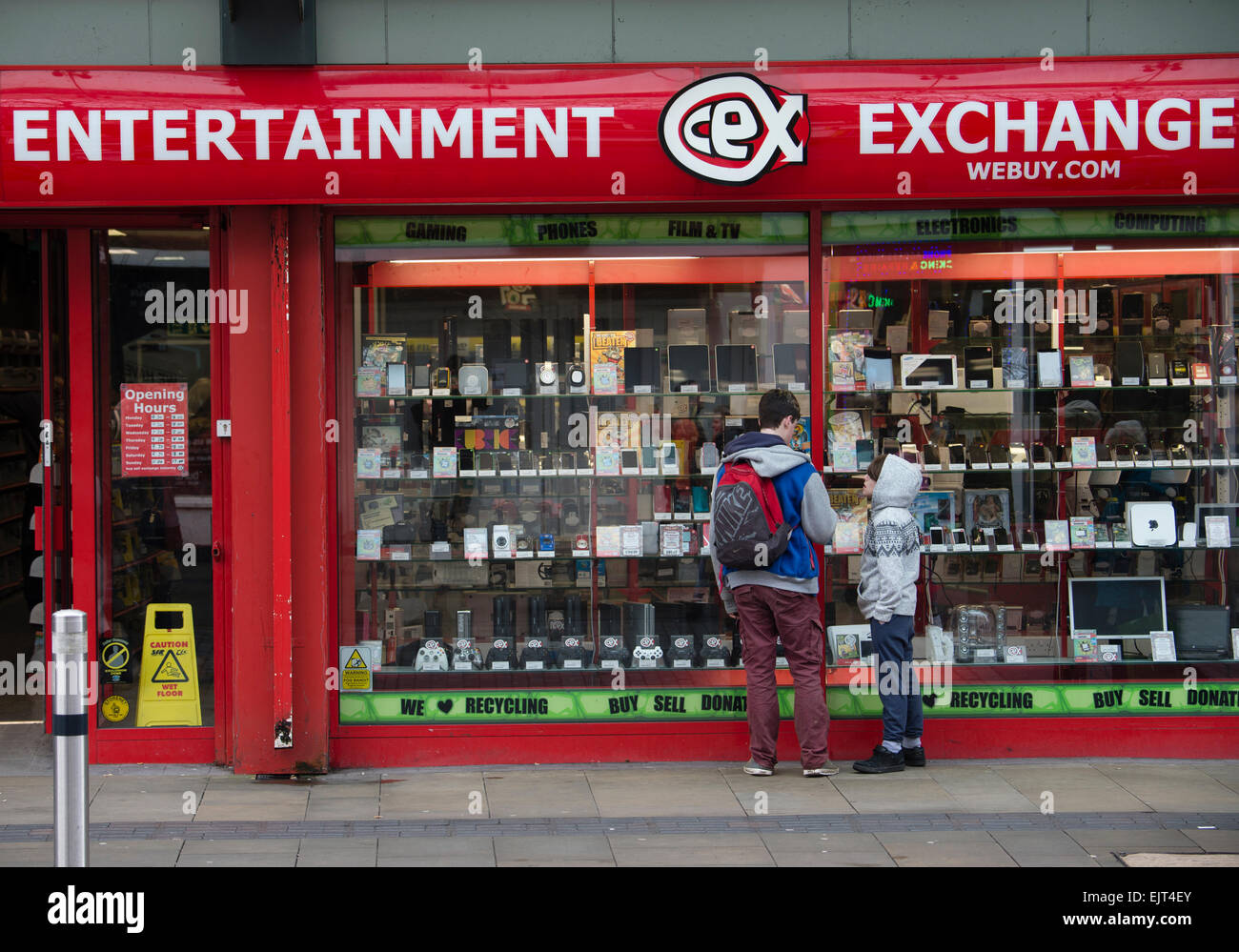 Entertainment Exchange (webuy.com) shop store Swansea Wales UK Photo Stock