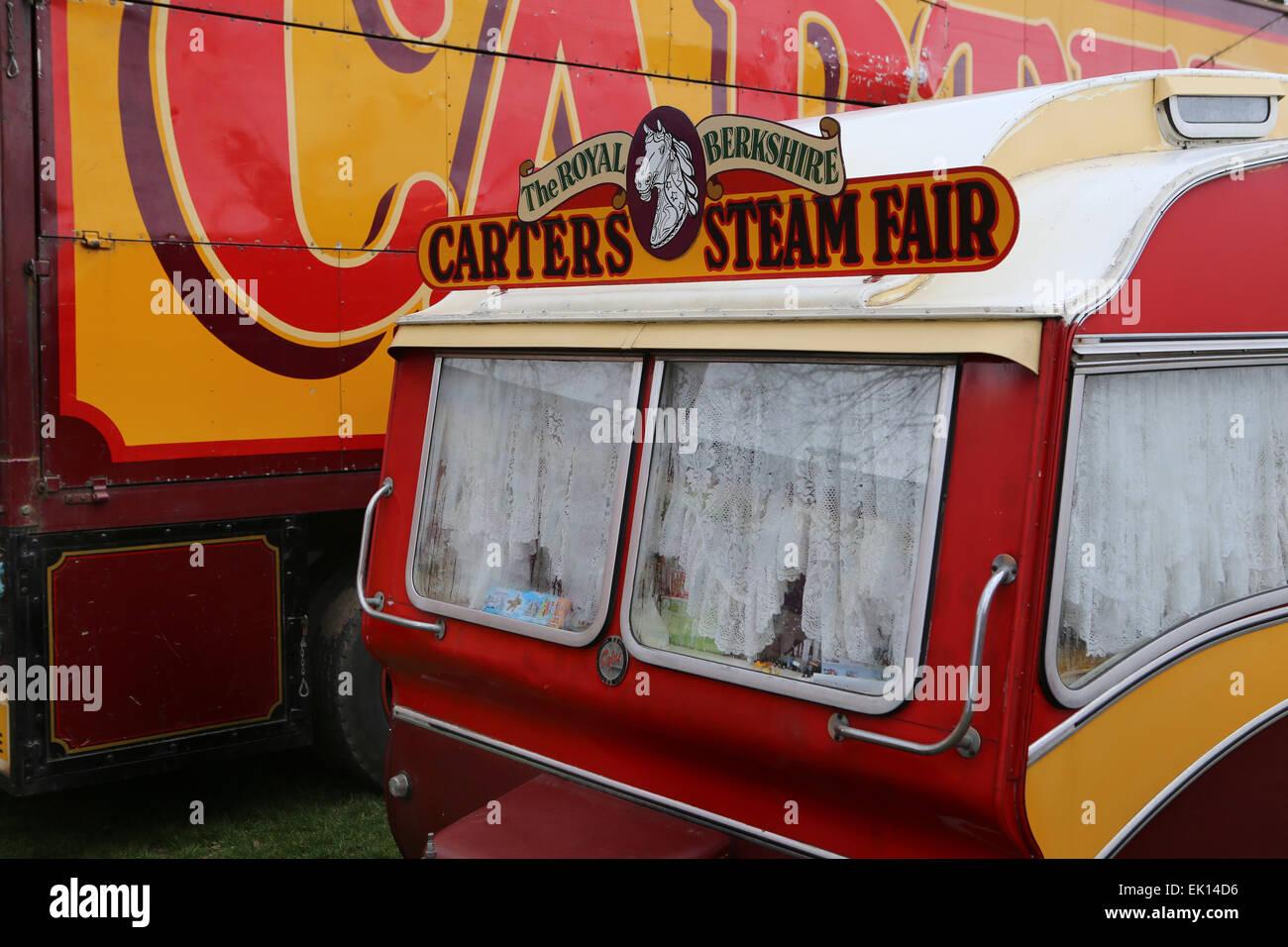 Une caravane décorée à la vapeur du carter, juste un voyage ...