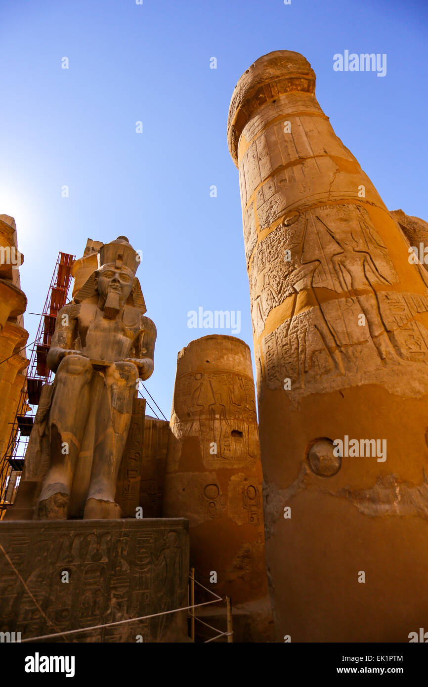 Temple de Louxor, la ville de Louxor, Egypte Photo Stock