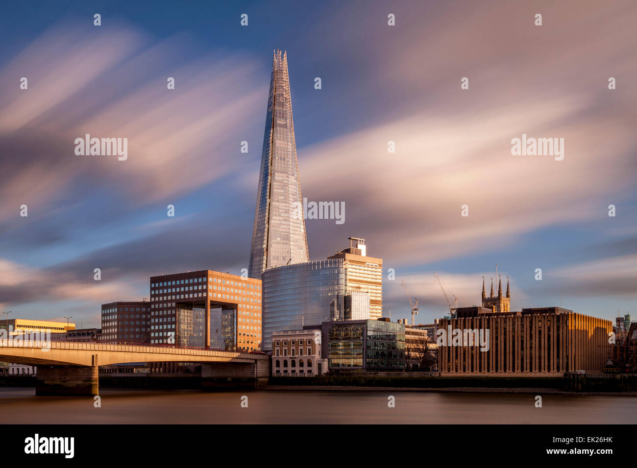 Le Shard et London Bridge, Londres, Angleterre Photo Stock