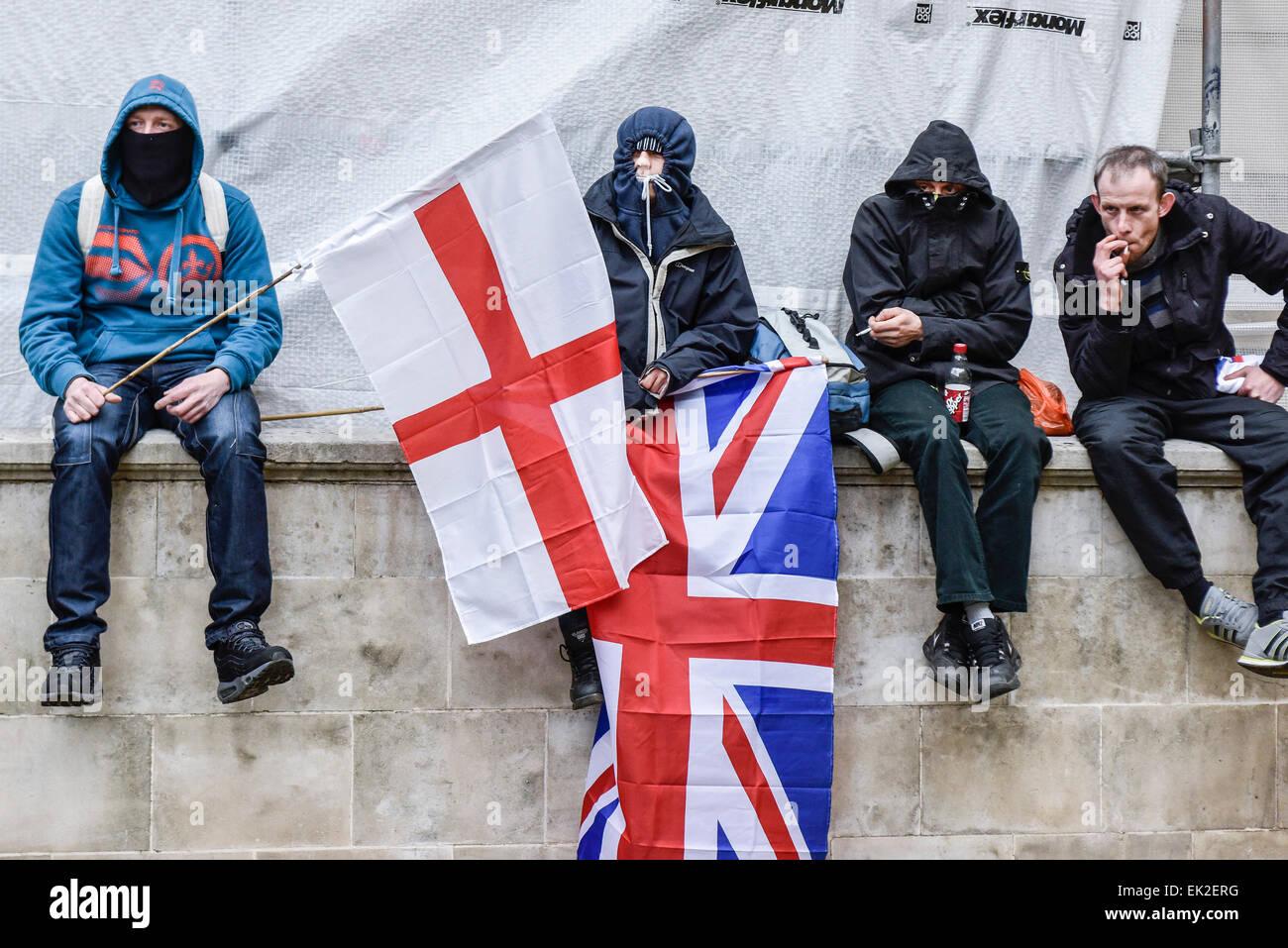 Les partisans de l'Pergida dans Whitehall. Photo Stock