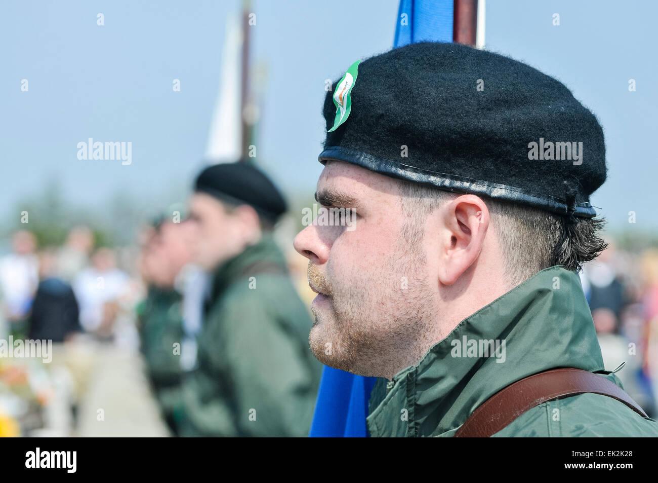 Commémorer le Sinn Fein républicain irlandais tombés bénévoles pendant l'Insurrection Photo Stock