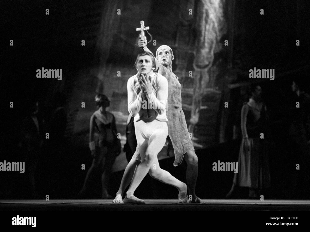 Leningrad. Urss. Ballet 'Idiot' organisé à Leningrad Ballet. Ballerine Valery Mikhaïlovski Photo Stock