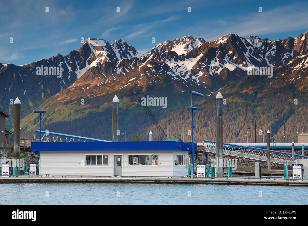 Station d'essence, Seward, Alaska Photo Stock