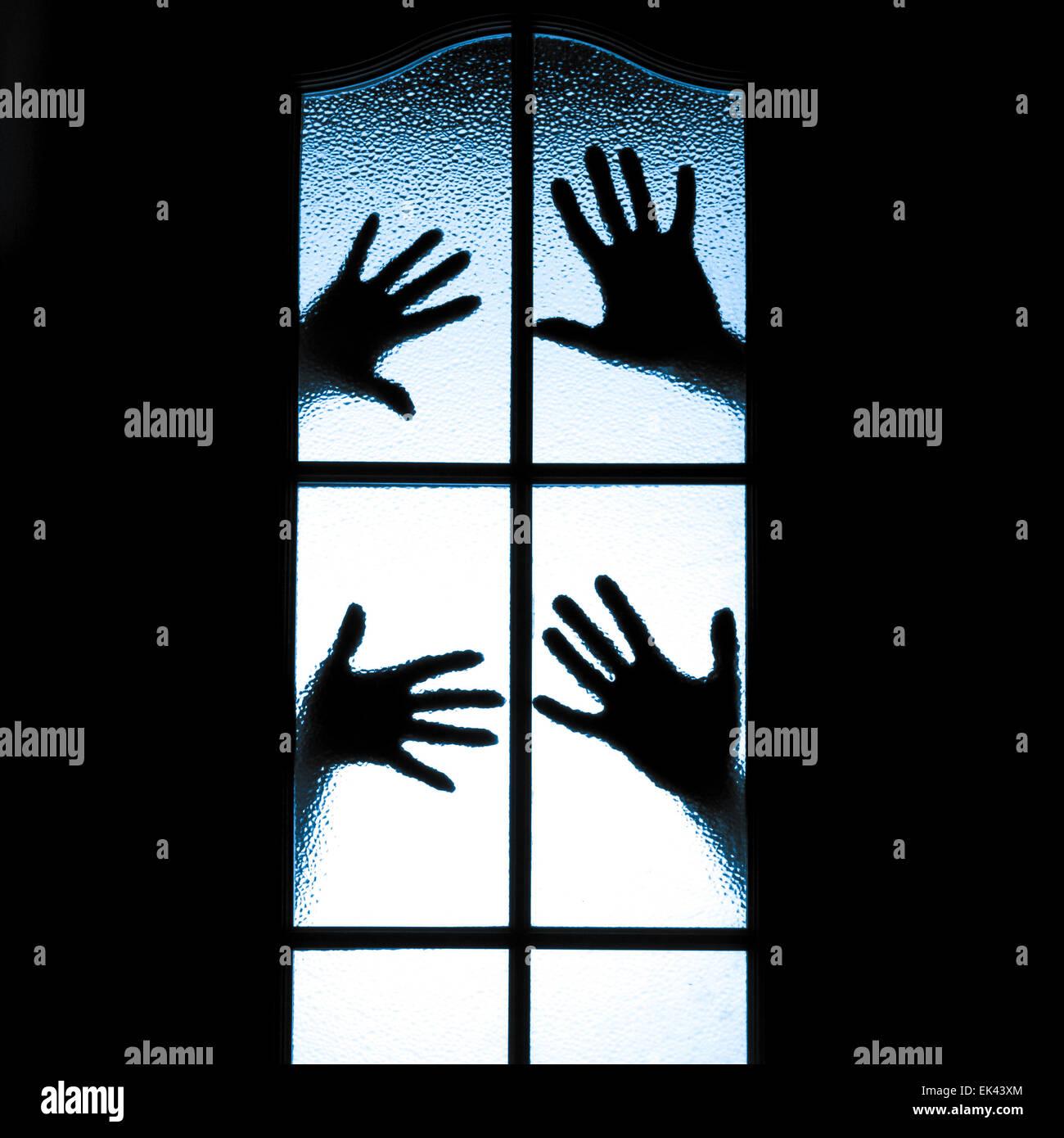 Silhouette diffuse de personnes Photo Stock
