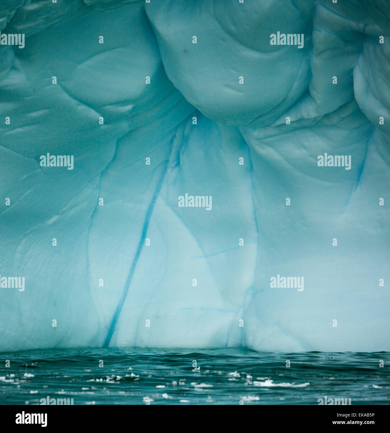 Détail de l'iceberg, Antarctique, îles Yalour Photo Stock