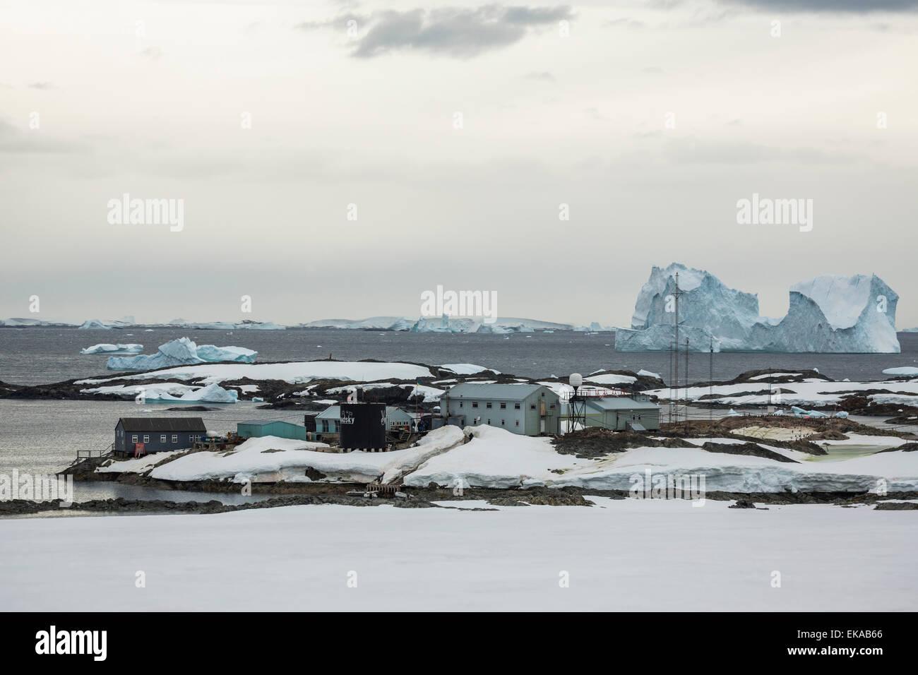 Iceberg, Antarctique, îles Yalour Photo Stock