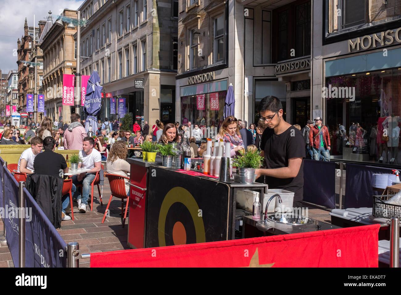 Restaurants et bars Dans Buchanan Street, Glasgow, Royaume-Uni Banque D'Images