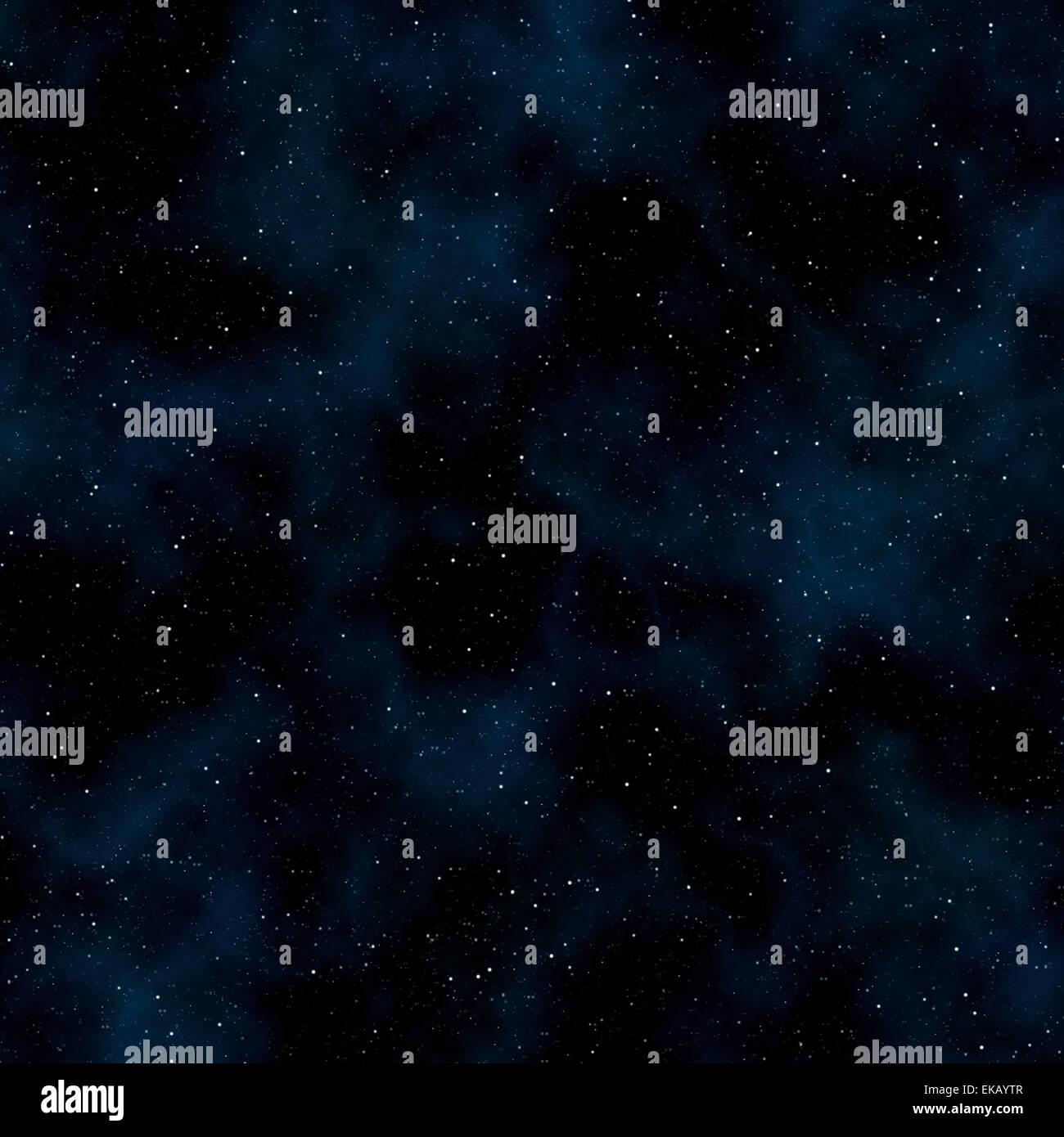 Espace abstrait arrière-plan: les étoiles et nébuleuses Photo Stock