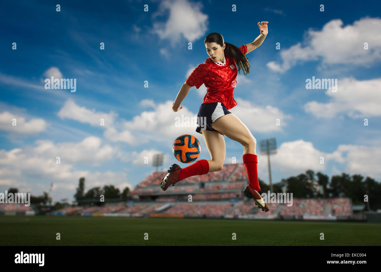 Talon gauche essaie de football Photo Stock