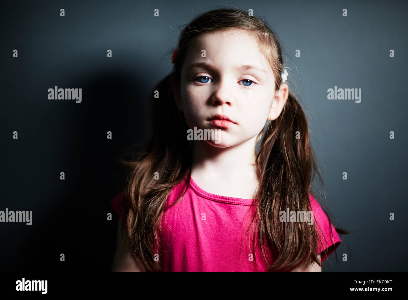 Girl with pigtails Photo Stock