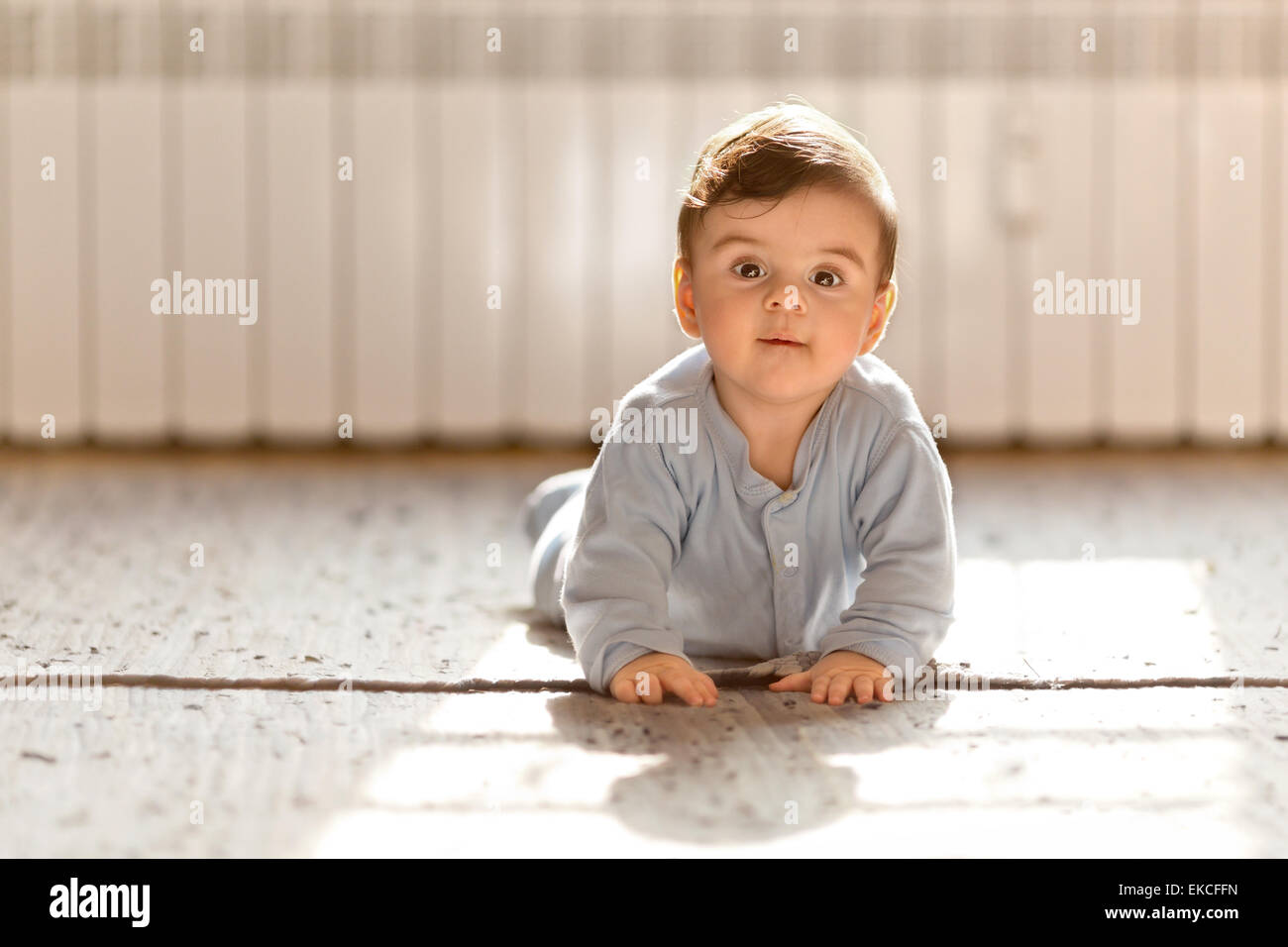 Baby Boy looking at camera Photo Stock