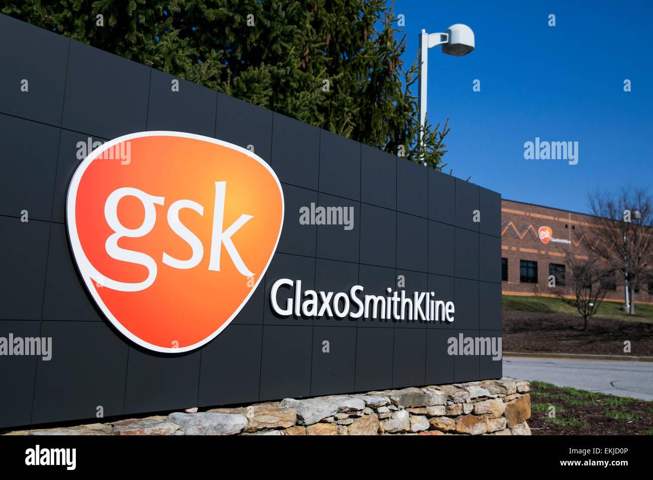Une installation exploitée par la société pharmaceutique GlaxoSmithKline. Photo Stock