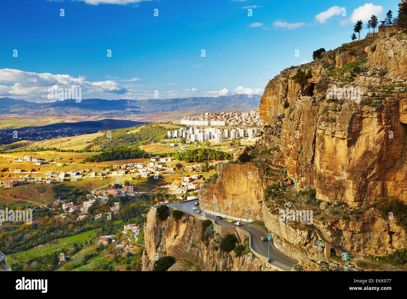 Constantine, la troisième plus grande ville de l'Algérie Photo Stock