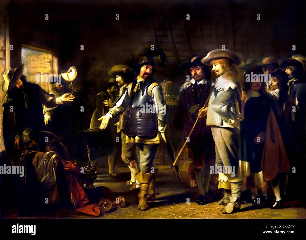 Diviser les soldats leur butin 1639 Simon Kick 1603-1652 Pays-Bas Néerlandais Photo Stock