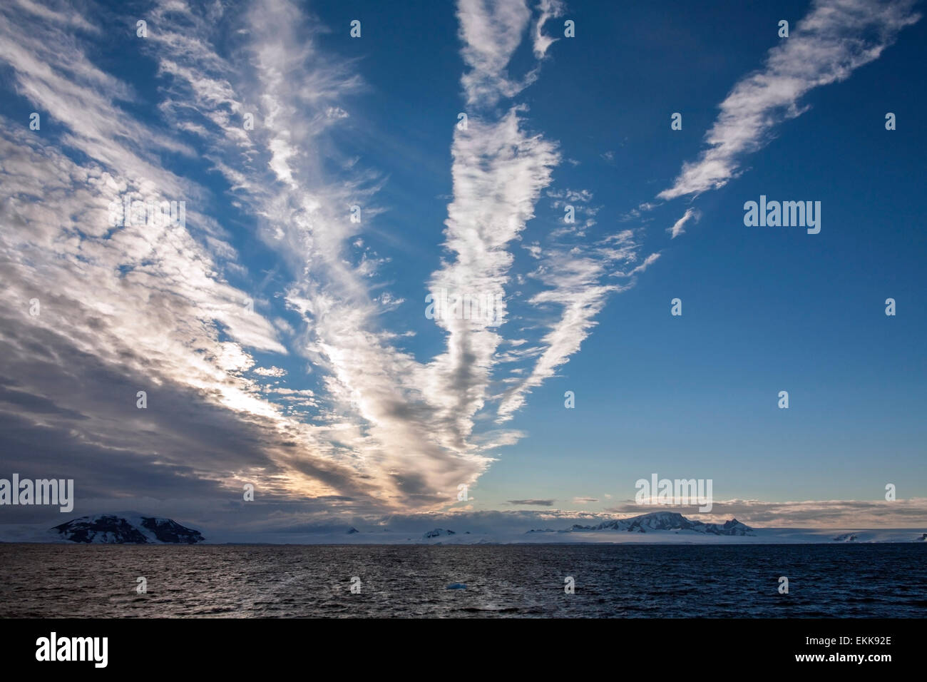 La mer de Weddell, près de la côte de la péninsule Antarctique dans l'Antarctique. Banque D'Images