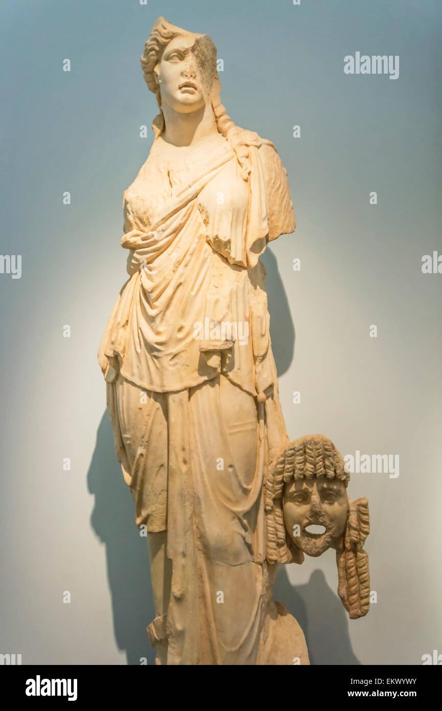 Statue en marbre sculpture, Aphrodisias Aphrodisias, musée, Anatolie, Turquie Photo Stock