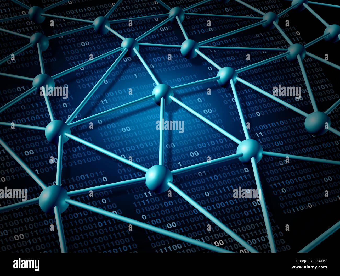 Réseau mondial des télécommunications et des réseaux structure concept avec grille de connexion Photo Stock