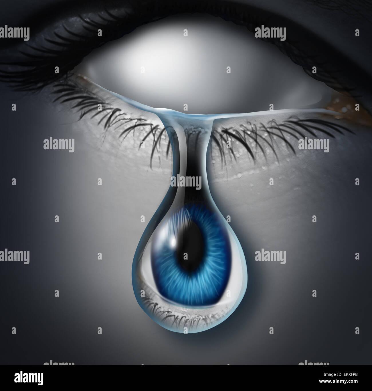 Concept de personnes perdues ou victime anonyme et emotionaly symbole drainés comme un espace vide de l'pleurer Photo Stock