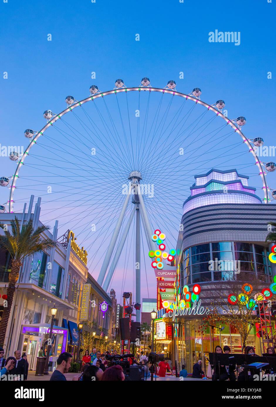 Le High Roller à la Linq, un coin repas et de commerces au centre du Strip de Las Vegas Banque D'Images