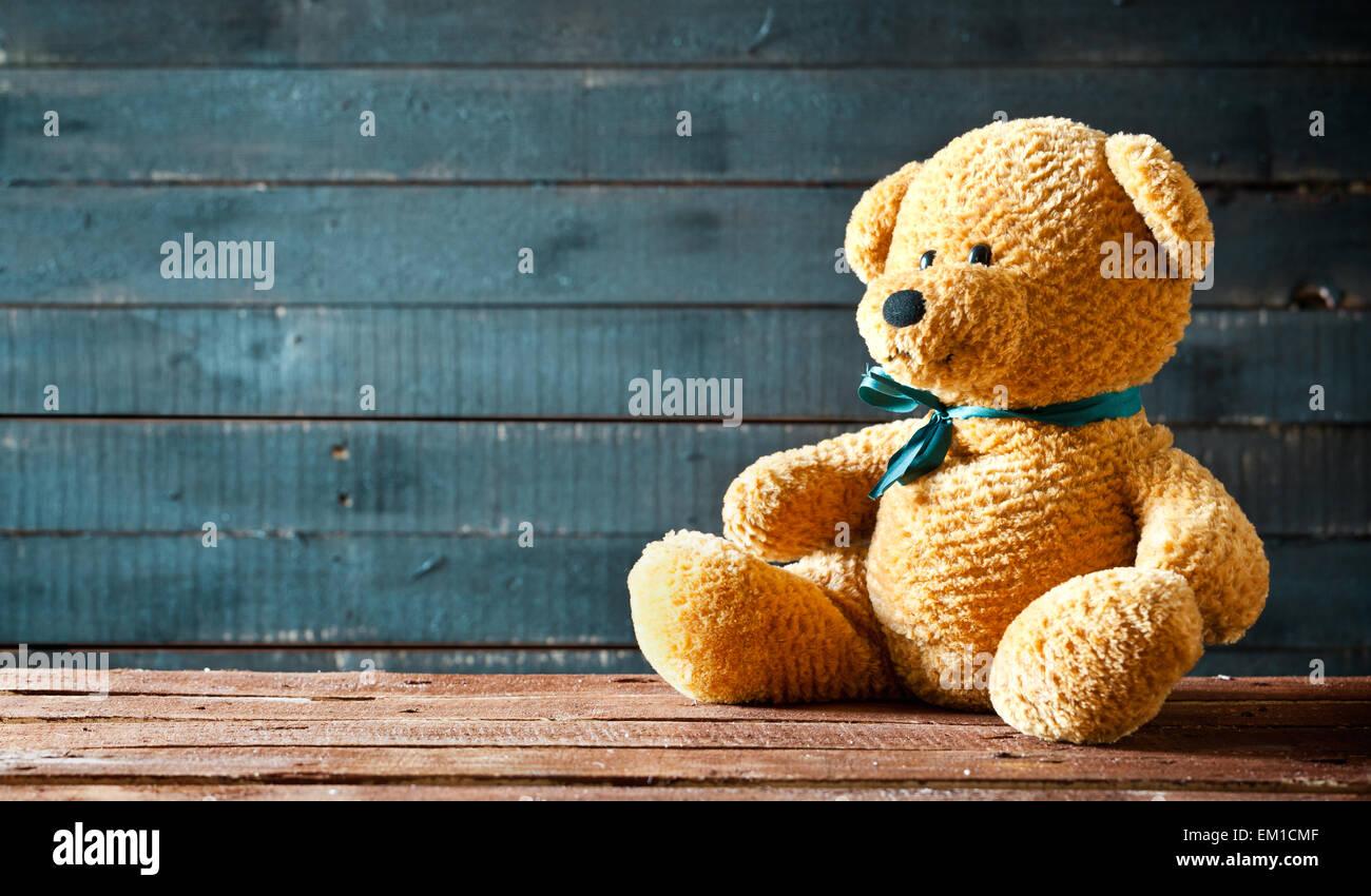 Close up photo d'un mignon petit ours en peluche Photo Stock