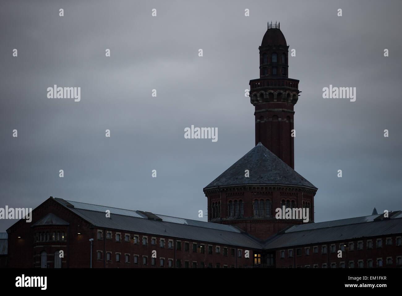 18/02/2015 . Manchester , Royaume-Uni . GV de PGH Manchester ( aka Strangeways Prison ) . © Joel Goodman/Alamy Photo Stock