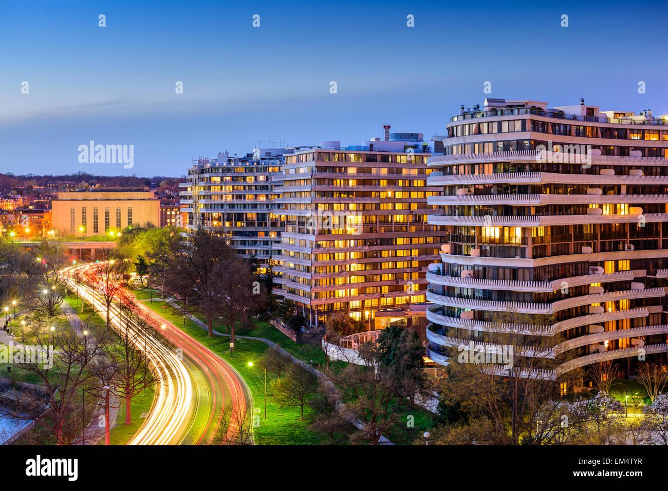 Washington, D.C. cityscape dans le quartier de Foggy Bottom. Photo Stock