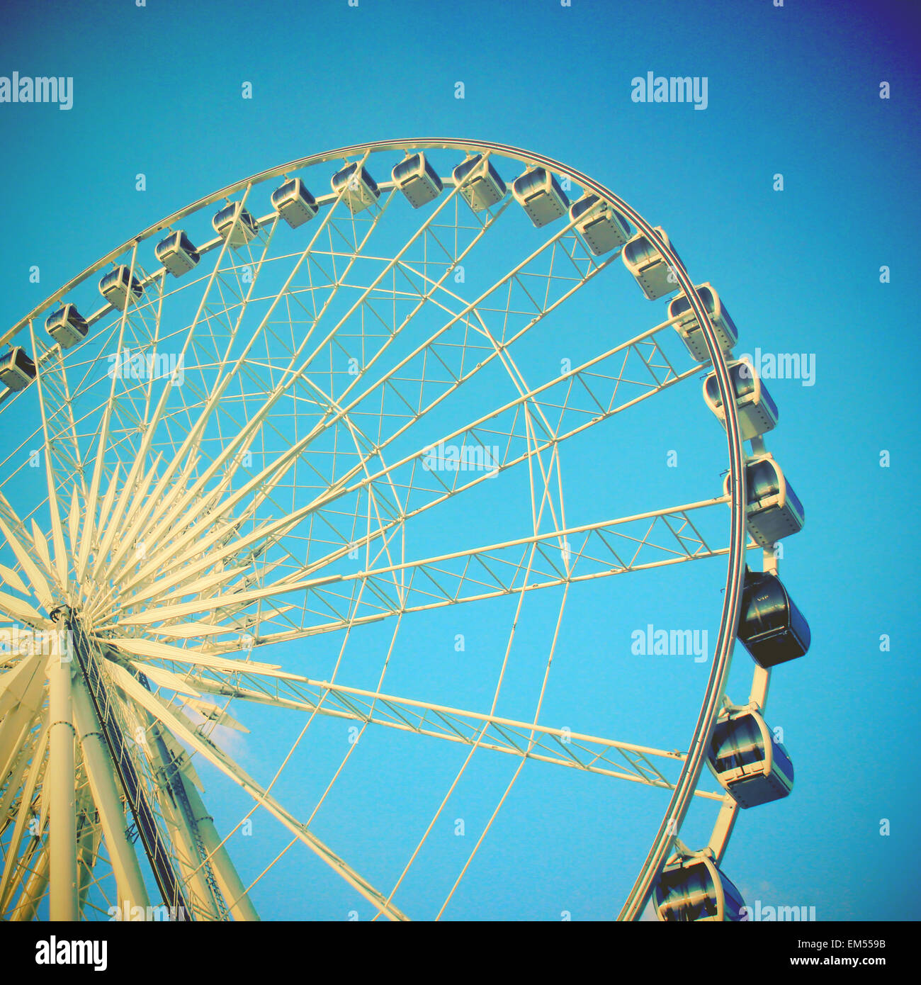 Grande roue avec effet du filtre Photo Stock