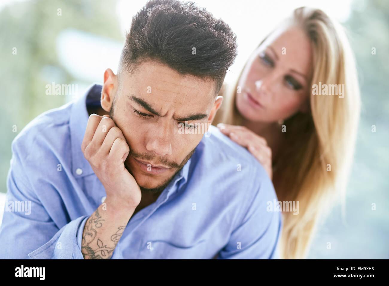 Consolante Couple Photo Stock