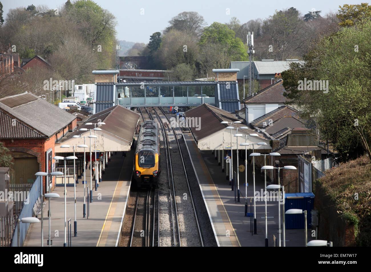 La gare de Winchester Banque D'Images