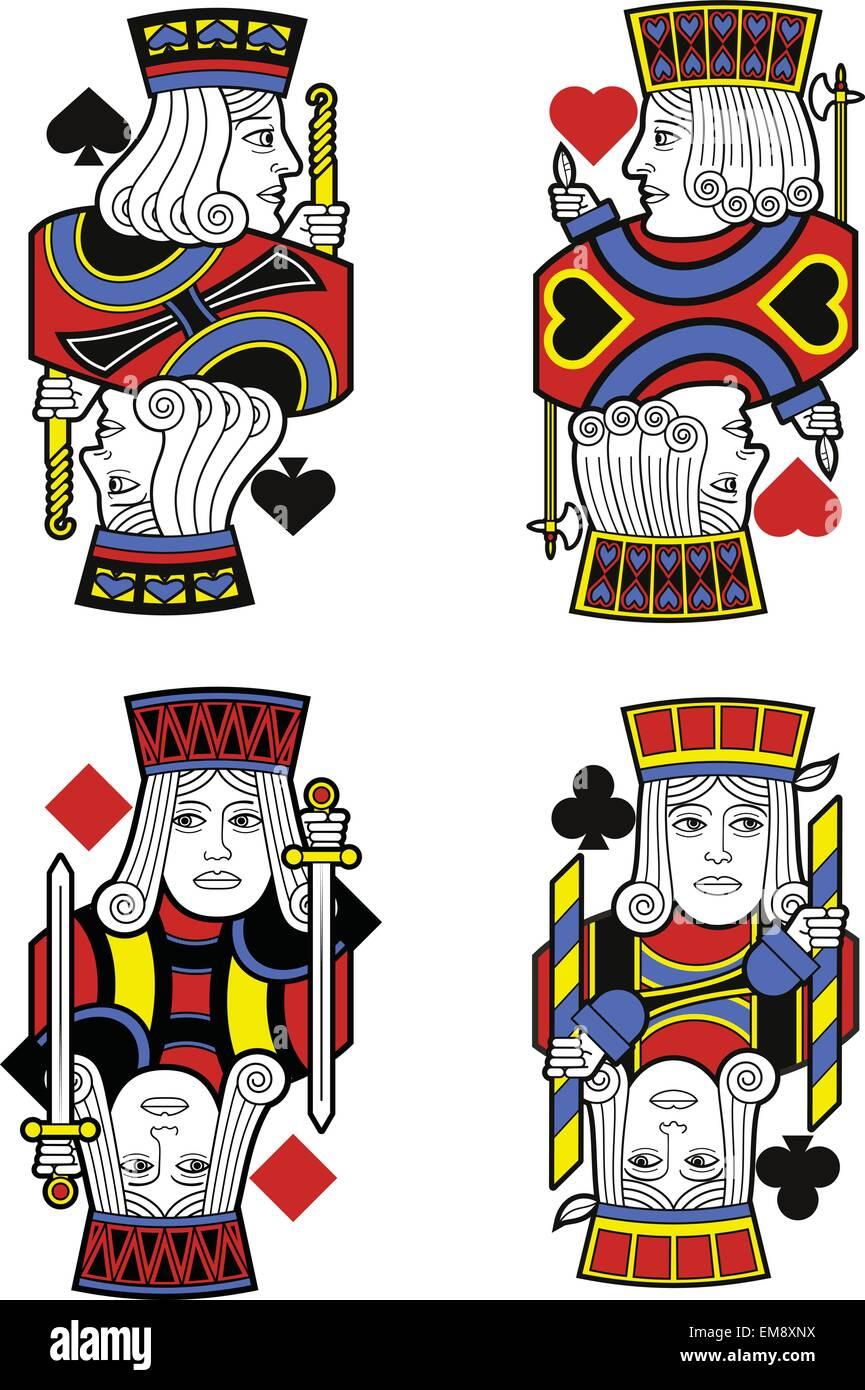 Quatre Valets sans cartes. Design original Photo Stock